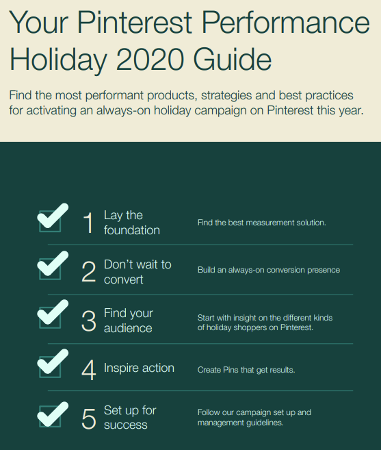 Pinterest holiday guide