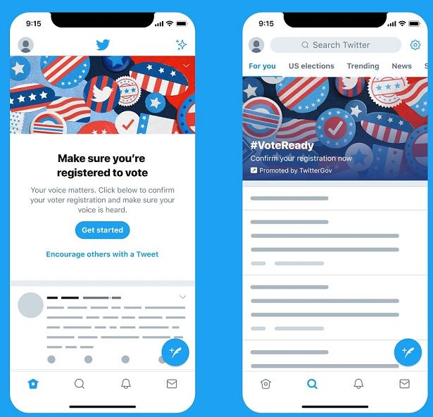 Twitter voting push